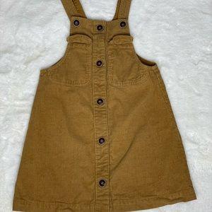 Zara Girls Curduroy Jumpsuit Dress